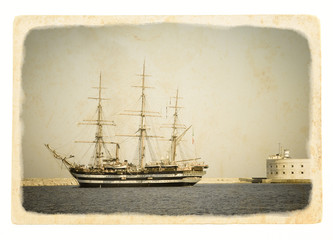 Old tall ship