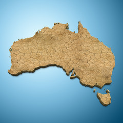 Australia map - Australian map desert