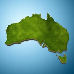 Australia map - Australian map grass
