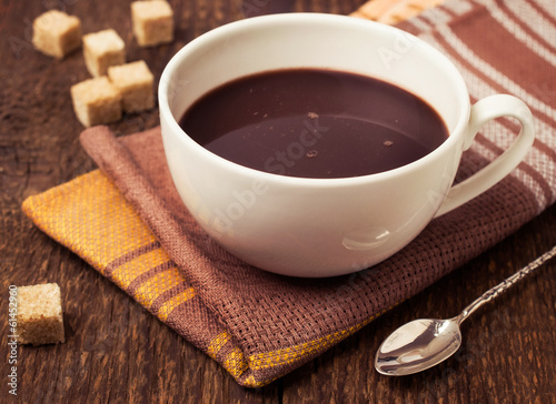 hot chocolate with cane sugar