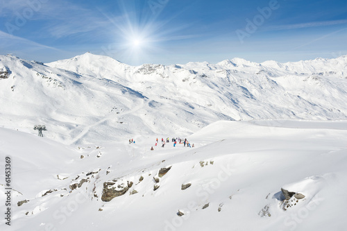 The Alps Mountains, Val Thorens, France