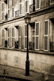 Street in Montmartre, Paris in sepia