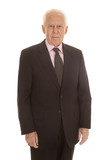 Elderly business man standing
