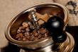 Nahaufnahme einer traditionellen Kaffeemühle
