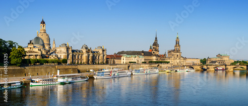 canvas print picture Panorama Dresden Altstadt