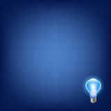 Blue Bulb With Background