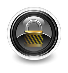 padlock glossy icon