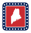 Maine state button