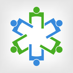 Medical Symbol Teamwork. Group of People