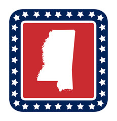 Mississippi state button