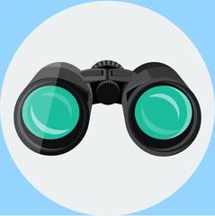 Binoculars Flat  Icon 2