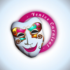 Venice Carnival - Vector illustration