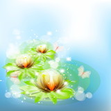 Easy beautiful Background with colors the Lily.