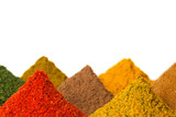Fototapety Spices on a white background