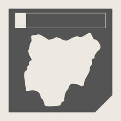 Nigeria map button