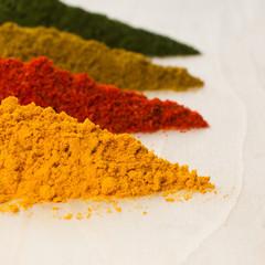 Various spices closeup