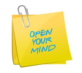 open your mind post message illustration design