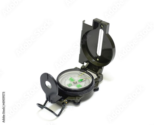 Military Compass over White