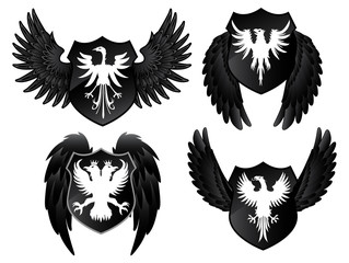 Eagles black shields
