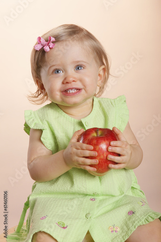 Won't let go of that apple