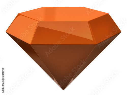 Orange illustration of diamond