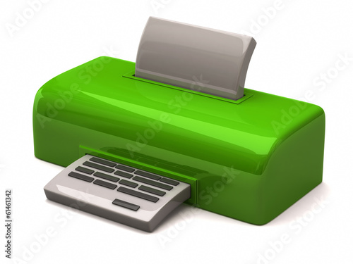 Illustration of green printer
