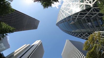 新宿高層ビル街イメージ  (魚眼撮影)