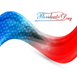 President Day in United States of America for stylish wave color