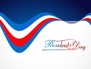 Background for President Day in United States of America with fl