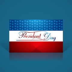 President Day in United States of America colorful reflection fl