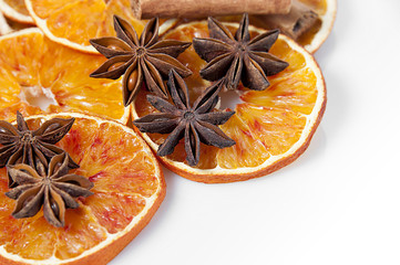 Orange and spices background