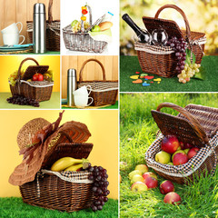 Collage of summer picnic