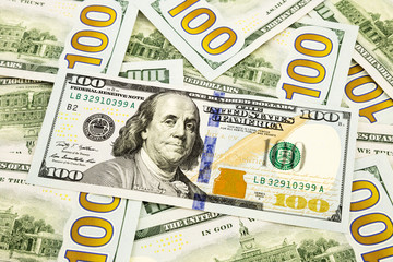 new edition 100 dollar banknotes, currency for banking and finan