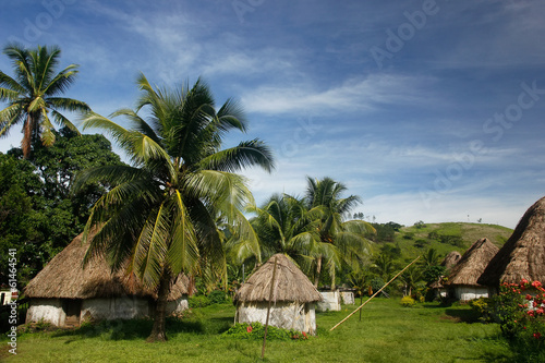 Traditional houses of Navala village, Viti Levu, Fiji