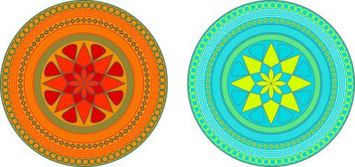 Abstract mandala design