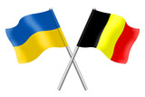 Flags: Belgium and Ukraine
