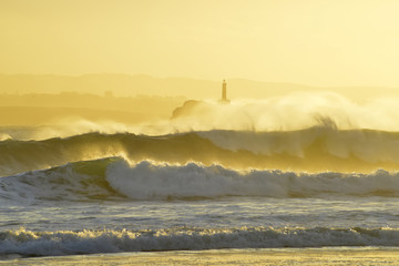 tide at sunrise on the island of Mouro