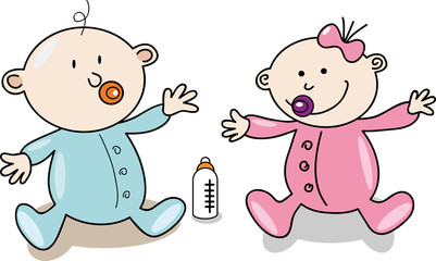 Creative design of cartoon baby.