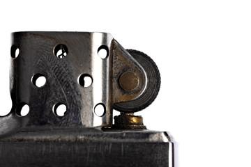 Detail with vintage metal lighter