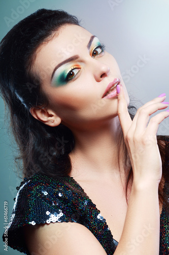 face with colorful make-up