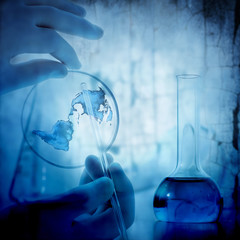 science and medical blue background