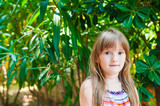 Summer portrait of adorable little girl