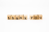 thank you wording isolate on white background