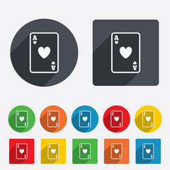 Casino sign icon. Playing card symbol