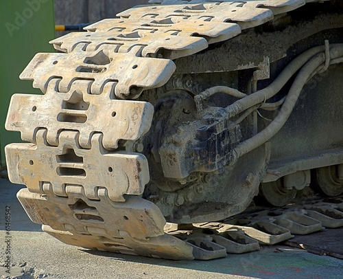 Heavy Duty Tracks of a Construction Machine
