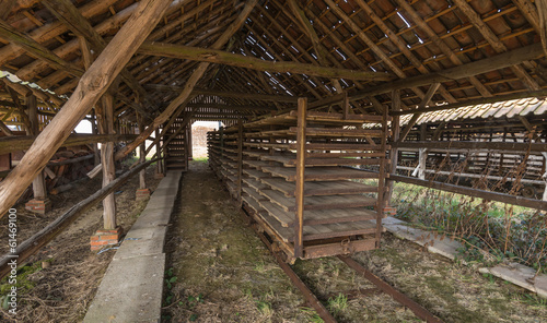 Drying shed of an old brick factory