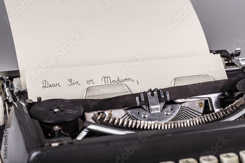 paper in typewriter