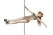 Beautiful poledancer girl on the pole
