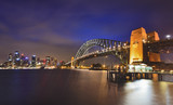 Sydney CBD Milsons Point Pier Arch sunset