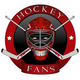 Emblem of the hockey fans and brotherhoods